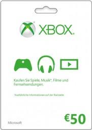 Xbox Live - 50 EUR Guthaben