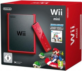 Wii Konsole mini red Mario Kart Bdl. inkl. Remote Plus red + Nunchuk red