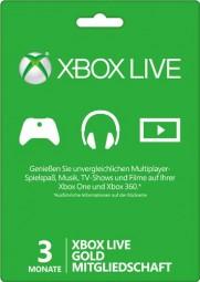 Xbox Live - Gold-Mitgliedschaft 3 Monate