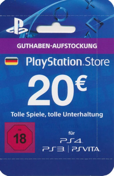 Network Cards Ps3 20 Euro Psn Store Guthabenkarte Sony Funtronixx