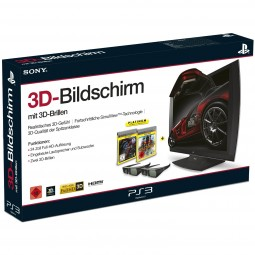 PS3 3D Monitor inkl.2 3D-Brillen+Killzone3 & Gran Turismo5